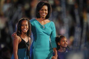 Michelle Obama e suas filhas